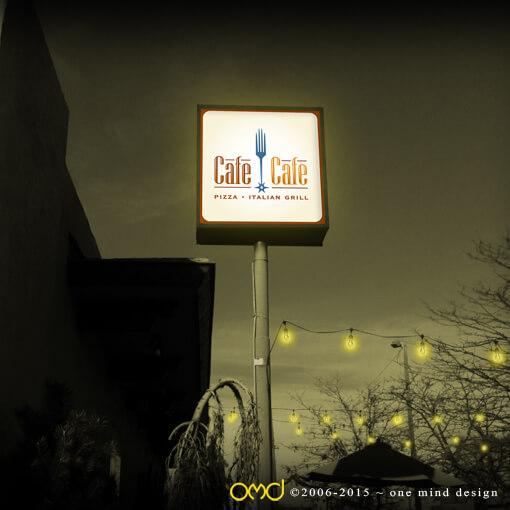 Cafe Cafe - Storefront Signage