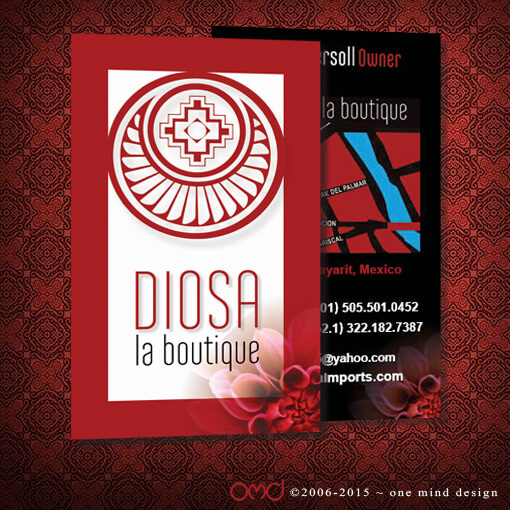 Diosa Imports - Business Cards