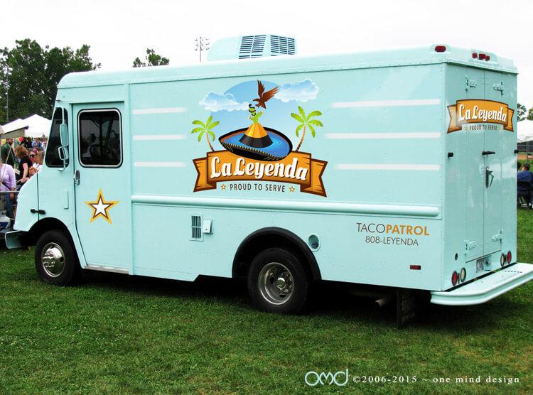 La Leyenda - Food Truck Graphics