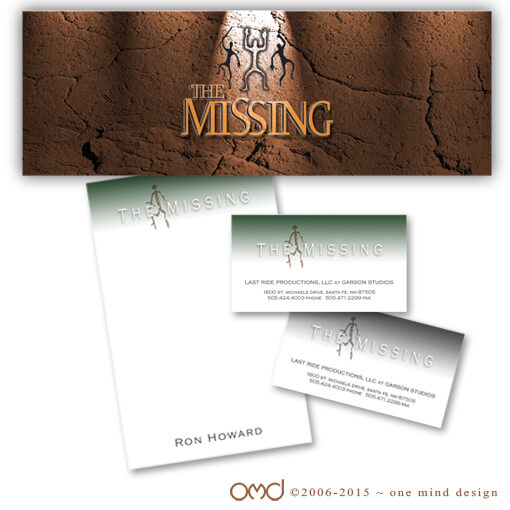 The Missing - Logo and Printed Materials for Ron Howard Film