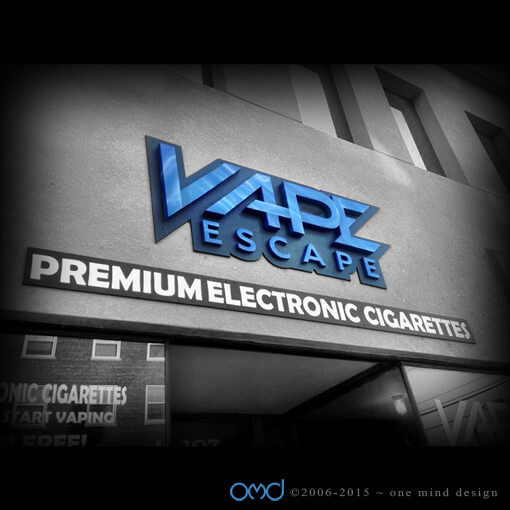 Vape Escape - Storefront Signage